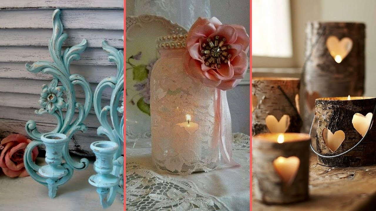 diy shabby chic craft ideas rustic amp shabby chic candle holder decor ideas interior 6466