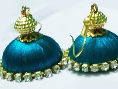Silk Thread Earrings Making || Silk Thread Jewelry Making Tutorial || Easy Diy