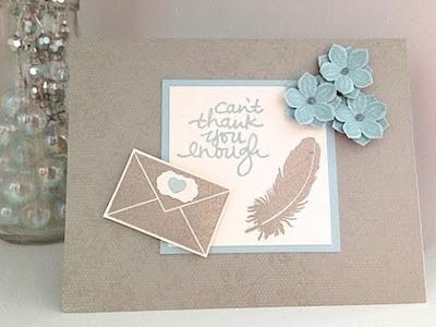 Simply Simple FLASH CARD - Can't Thank You Enough Card by Connie Stewart