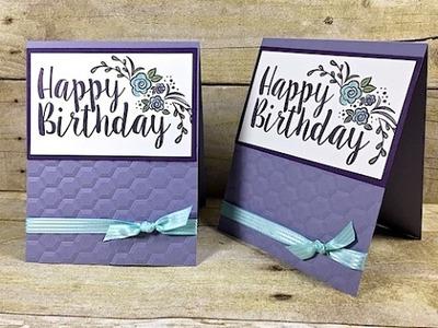 Simply Simple MAKE IT IN MINUTES - Big on Birthdays Flash Card by Connie Stewart