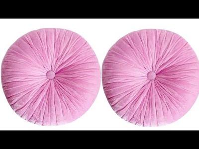 Super easy round cushion.Pink ♛princess♛ pumpkin cushion.