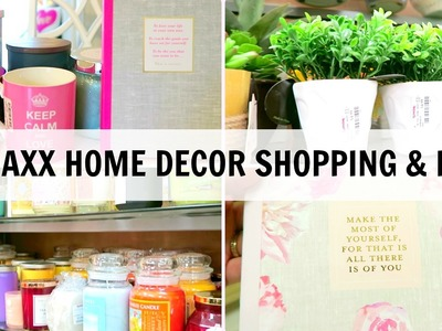 TJ MAXX HOME DECOR HAUL AND SHOP WITH ME