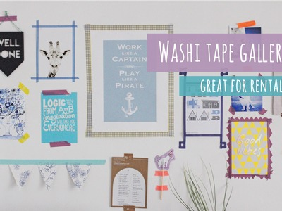 Washi tape gallery wall, great for rentals