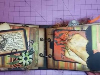 """""""Wicked"""" Halloween Scrapbook Mini Album"""