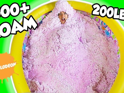200LBS of DIY FLOAM SLIME $500 + SLIME CHALLENGE IN A POOL! SO CRAZY!