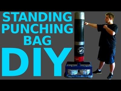 #26 Homemade STANDING PUNCHING BAG diy