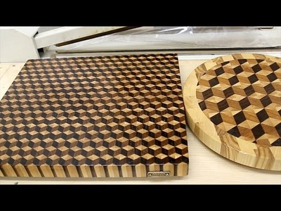 3D end grain cutting board #2 with the small cubes