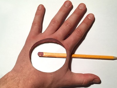 3D Trick Art! Where is the pencil? Hole in the Hand, Dirty Mind Trick Surprise Drawing
