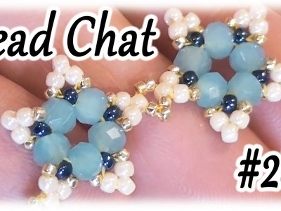 Bead Chat #28 - Beaded star necklace for the next tutorial - An easy and shiny necklace