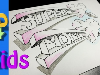Best Mother's day 3D DRAWING ever. . draw SUPER MOM !!