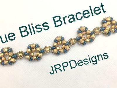 Blue Bliss Bracelet--Intermediate Left Hand Beading Tutorial