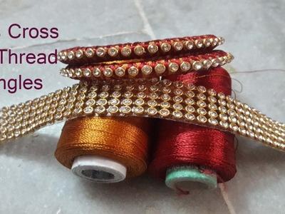 Criss Cross Silk Thread Bangles Making Tutorial