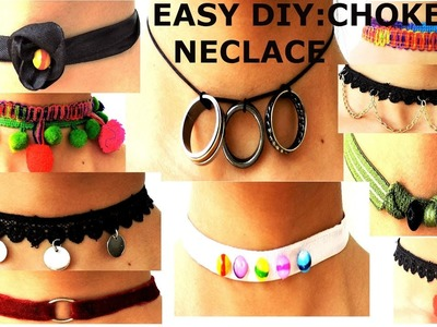 DIY: 10 CHOKER Necklace from old stuff | EASY and QUICK. 2 min Work