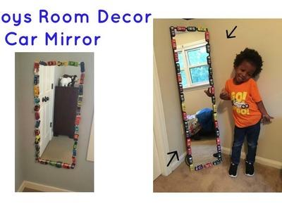 DIY Car Mirror   Boys Truck Room Decor