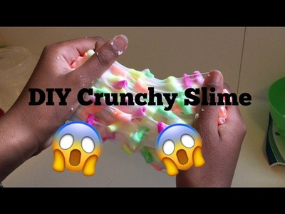 DIY Crunchy Slime With Straw Pieces| Ketchup DIY