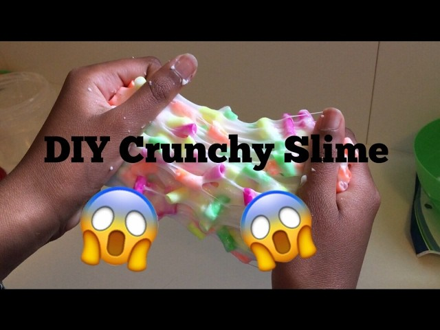 DIY Crunchy Slime With Straw Pieces  Ketchup DIY