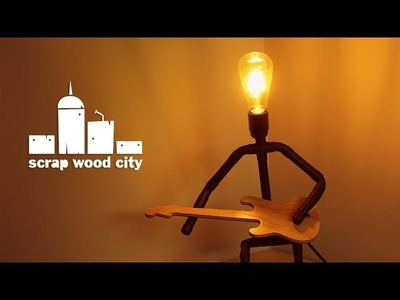 DIY desktop lamp with copper pipes and plywood