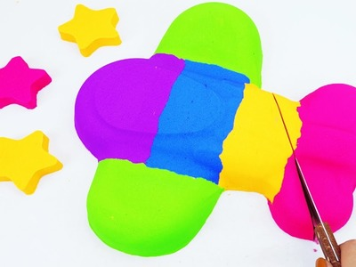 DIY Kinetic Sand Planes Learn Colors Kinetic Foam Surprise Eggs Toy Opening for Kids