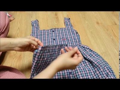 DIY: Men's Old Shirt to Peplum Top | Recycle Men's Old Shirt