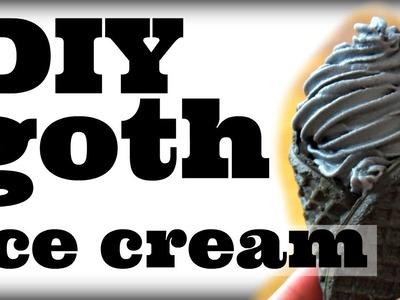DIY Mini GOTH Soft Serve Ice Cream Cones | You Made What?!