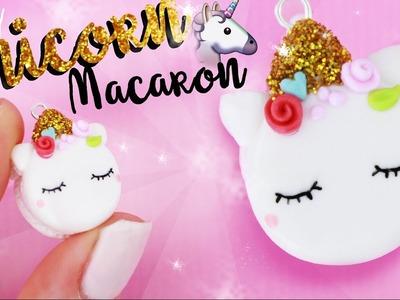 DIY UNICORN MACARON CHARM!! - Cute GLITTER DIY!  | Kawaii Friday
