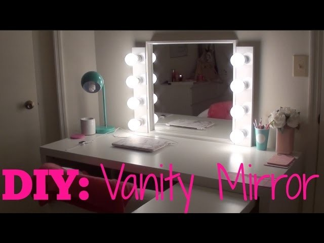 diy vanity mirror with lights my crafts and diy projects. Black Bedroom Furniture Sets. Home Design Ideas