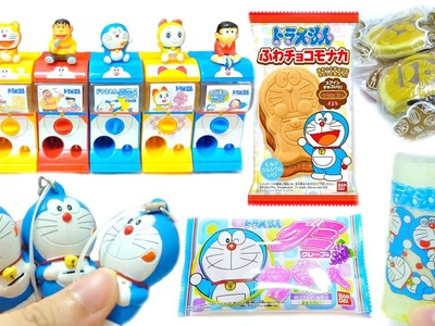 Doraemon Squeeze Toy DIY Drink Candy Capsule Toy Compilation