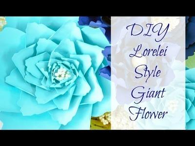 Easy Giant Paper Flower Tutorial
