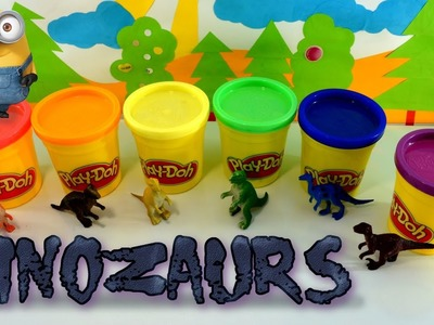 Fun Learning Colours With Play-Doh Minions And Dinosaurs | Children | DIY | SURPRISE FOR KIDS