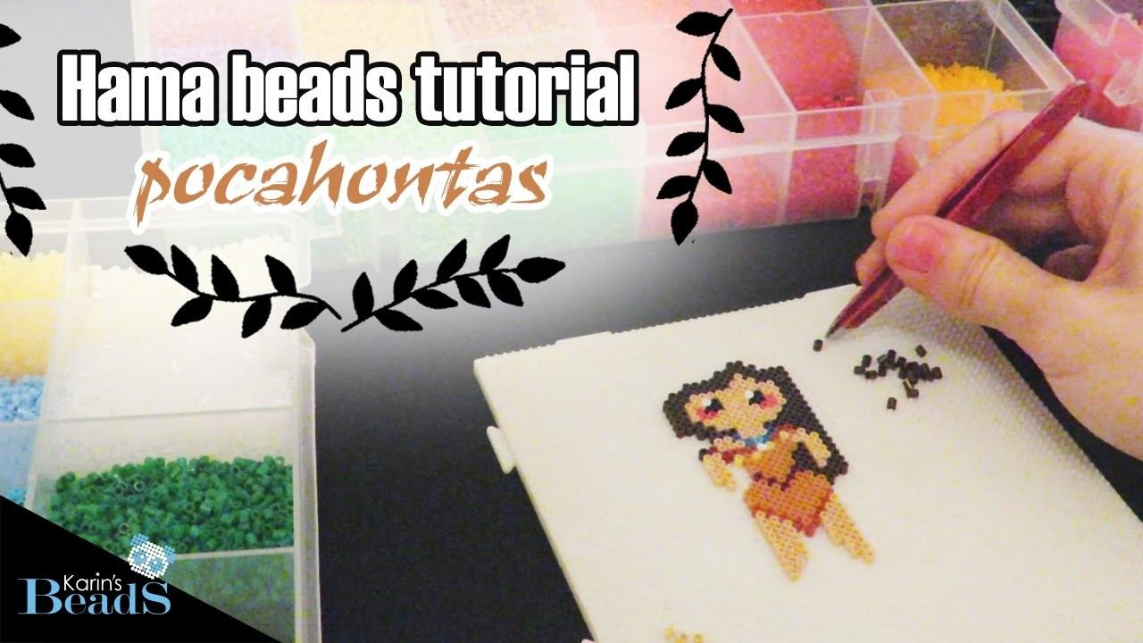 Hama beads tutorial  | pocahontas |