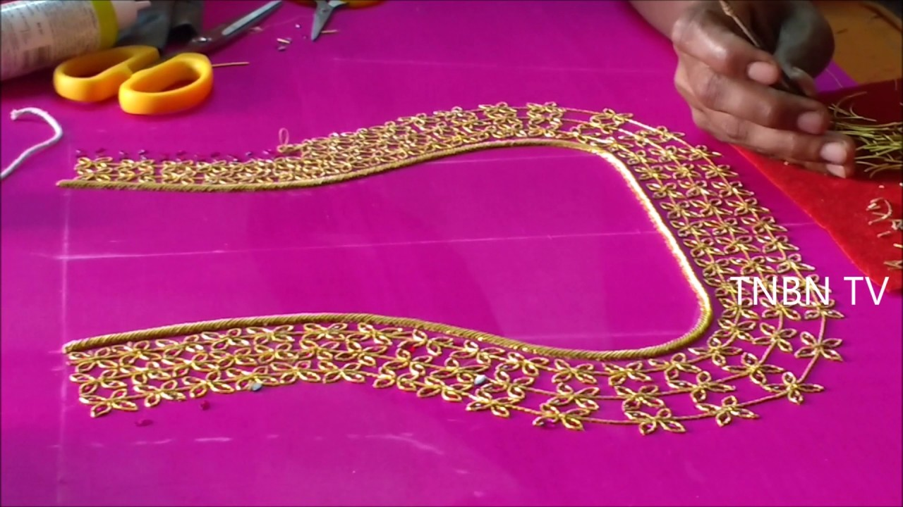Hand embroidery designs zardozi tutorial