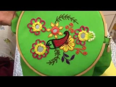 Hand Embroidery easy stitch how to make Rajasthani stitch