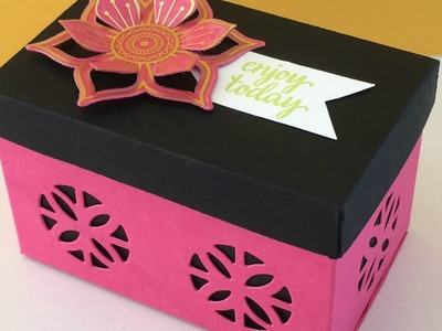 Hot Pink and Black Gift Box -  Eastern Palace Week, Video Tutorial  - New from Stampin' Up