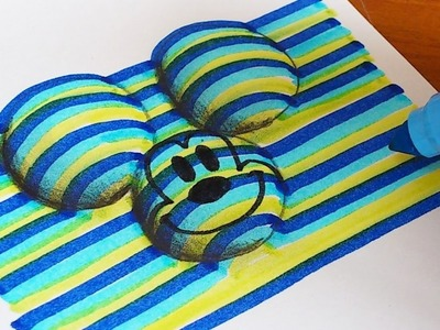 How to Draw 3D Mickey Mouse (Disney) Coloring Pages | Learning Colouring Videos for Kids