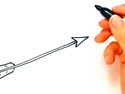 How to draw an Arrow | Arrow Easy Draw Tutorial