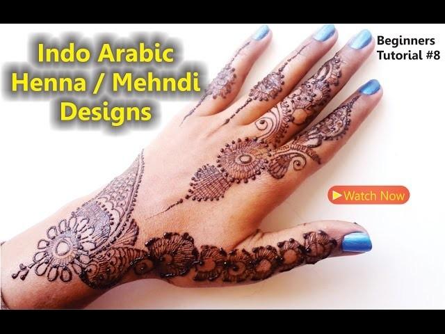 Indo Arabic Simple Quick And Easy Mehndi Henna Design