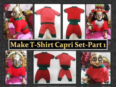 Make T-Shirt and Capri for Bal Gopal - with hand swing - part 1 drafting and cutting