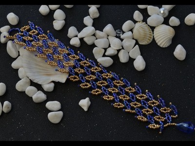 PandaHall Video Tutorial on Making Bead Stitch Wide Bracelet