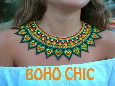 PART 1 of the TUTORIAL for the BOHO CHIC STYLE necklace in English!!!