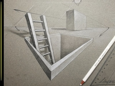 PERSPECTIVE drawing - 2 or two point with maximum 3D result