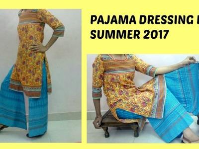 Punjabi palazzo salwar- DIY Summer Pajama One piece Garara Dress pattern pants Cotton Sharara suits