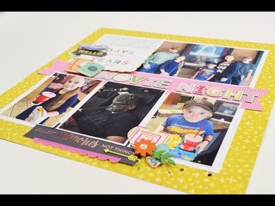 "Scrapbooking Process video ""Movie Night"" by Becki Adams"
