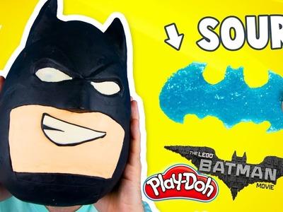 The Lego Batman Movie Play-Doh Surprise Egg + DIY SOUR GUMMY Batman by KIDCITY
