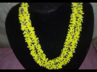 The tutorial on how to make this elegant yello and blue beads