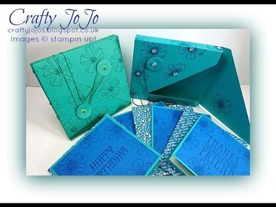 """Unusual Gift Set Box 5"""" x 5"""", holds Set of cards - Tutorial -"""