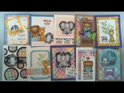 10 Cards - 1 Kit. Simon Says Stamp Card Kit. April 2017. Cards and Coffee Time
