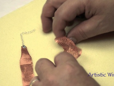 Artistic Wire - Finishing Mesh with a C-Crimp or Mesh Clasp