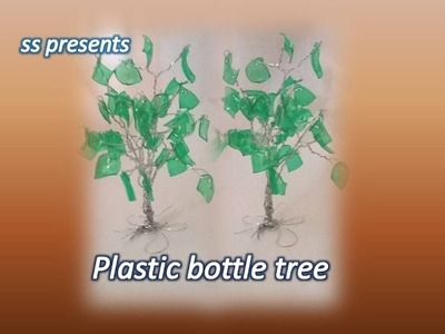 Best out of the waste. Plastic bottle tree.Recycled plastic bottle tree