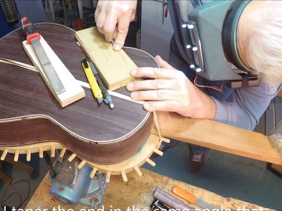 Binding and purfling a guitar part 2