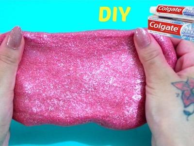 ????COMO FAZER AMOEBA COM PASTA DE DENTE  ???? DIY???? How to Make Slime Colgate Toothpaste and Glue, With